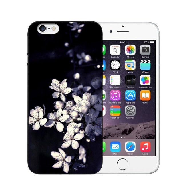Vintage Flower Soft Silicone Phone Case For iPhone-Online Best Deals-Online Best Deals