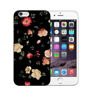 Vintage Flower Soft Silicone Phone Case For iPhone-Online Best Deals-T0459-For iPhone X-Online Best Deals