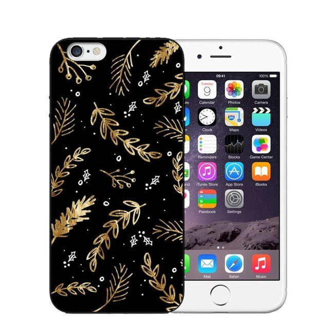 Vintage Flower Soft Silicone Phone Case For iPhone-Online Best Deals-T0462-For iPhone X-Online Best Deals