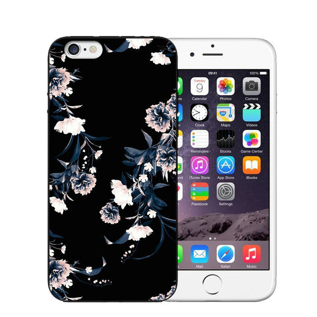 Vintage Flower Soft Silicone Phone Case For iPhone-Online Best Deals-T0463-For iPhone X-Online Best Deals