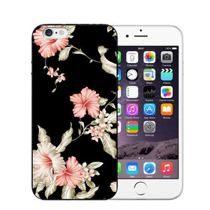 Vintage Flower Soft Silicone Phone Case For iPhone-Online Best Deals-T0465-For iPhone X-Online Best Deals