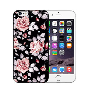 Vintage Flower Soft Silicone Phone Case For iPhone-Online Best Deals-T0466-For iPhone 7-Online Best Deals