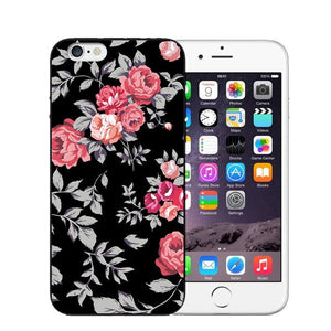 Vintage Flower Soft Silicone Phone Case For iPhone-Online Best Deals-T0467-For iPhone X-Online Best Deals