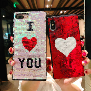 Reversible Color Change Sequined Phone Case for iPhone-Online Best Deals