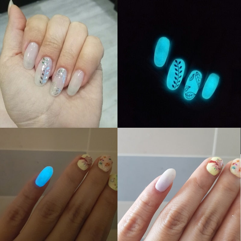 Fluorescent Powder Nail Glitters Glow in the Dark-Online Best Deals
