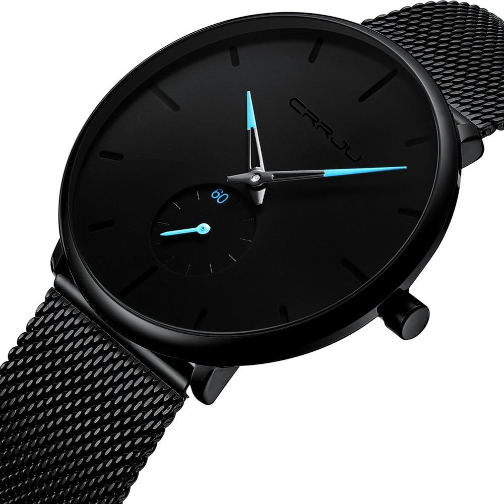Slim Mesh Steel Waterproof Minimalist Wrist Watch-Online Best Deals-Online Best Deals