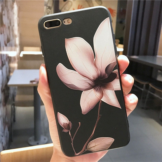 Lotus Flower Case For iPhone-phone case-Online Best Deals-SJ4021 Black-For iPhone X-Online Best Deals
