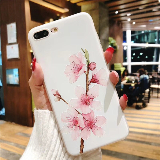 Lotus Flower Case For iPhone-phone case-Online Best Deals-SJ7581-For iPhone X-Online Best Deals