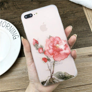Lotus Flower Case For iPhone-phone case-Online Best Deals-SJ7531-For iPhone X-Online Best Deals