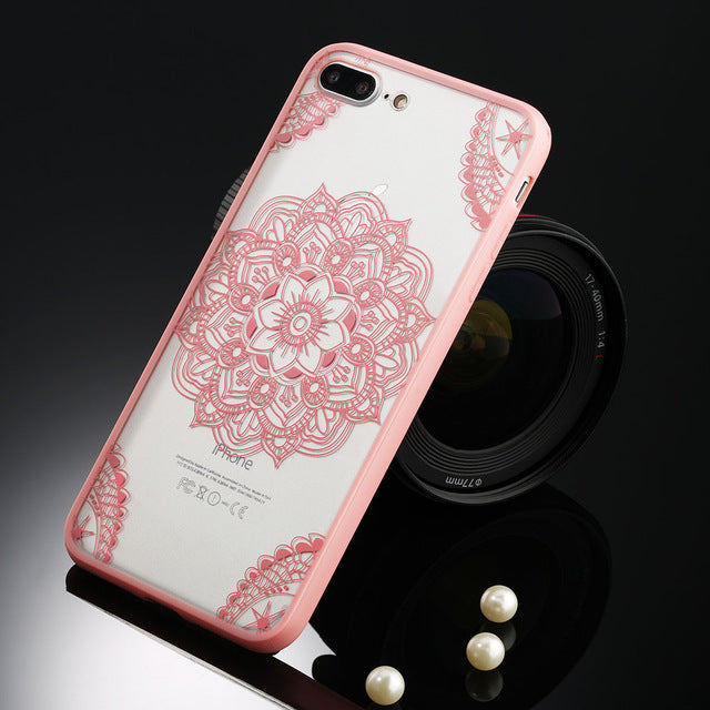 Floral Phone Case For iPhone-Online Best Deals-T1 Pink-For iPhone 5 5s SE-Online Best Deals