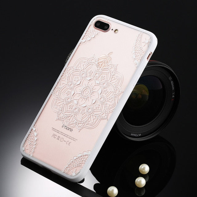 Floral Phone Case For iPhone-Online Best Deals-T1 White-For iPhone 5 5s SE-Online Best Deals
