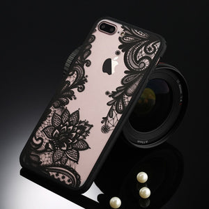 Floral Phone Case For iPhone-Online Best Deals-T2 Black-For iPhone 5 5s SE-Online Best Deals