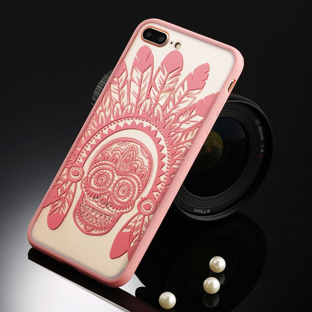 Floral Phone Case For iPhone-Online Best Deals-T3 Pink-For iPhone 5 5s SE-Online Best Deals