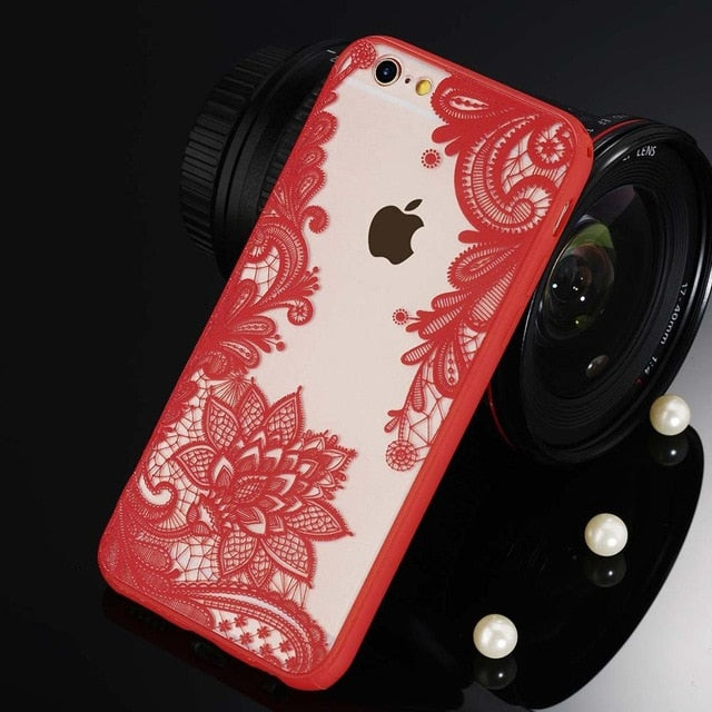 Floral Phone Case For iPhone-Online Best Deals-3296 Red-For iPhone X-Online Best Deals
