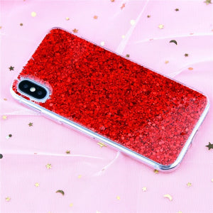 Luxury Bling Glitter Crystal Phone Case-phone case-Online Best Deals-Red-For iPhone 5 5S SE-Online Best Deals
