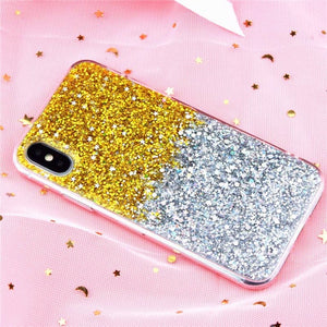Luxury Bling Glitter Crystal Phone Case-phone case-Online Best Deals-Gradient Gold-i6-i6S(4.7inch)-Online Best Deals