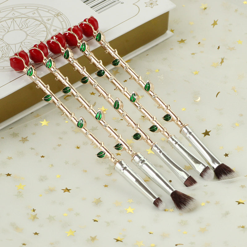 Rose Makeup Brushes - 5Pcs/Set-Health & Wellness-Online Best Deals-Online Best Deals