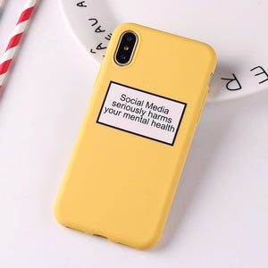 Social Media Quotes Funny Phone Case For iPhone 6S 5 5S SE 8 8Plus X 7 7Plus XS Max-Online Best Deals-4-For iPhone 6Plus-Online Best Deals