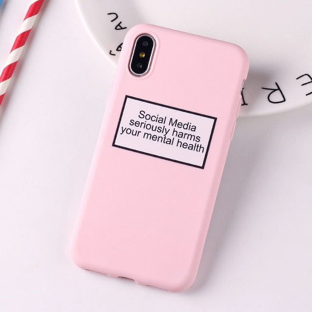 Social Media Quotes Funny Phone Case For iPhone 6S 5 5S SE 8 8Plus X 7 7Plus XS Max-Online Best Deals-5-For iPhone 6Plus-Online Best Deals