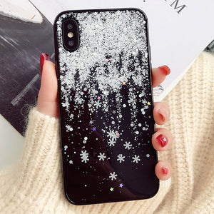 Christmas Snow Phone Case For iPhone-Online Best Deals-Black-PLUS 6Plus 6sPlus-Online Best Deals