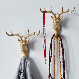 Creative 3D Wall Hangers Decoration Animals Hooks-Online Best Deals-Gold Deer Head-Online Best Deals