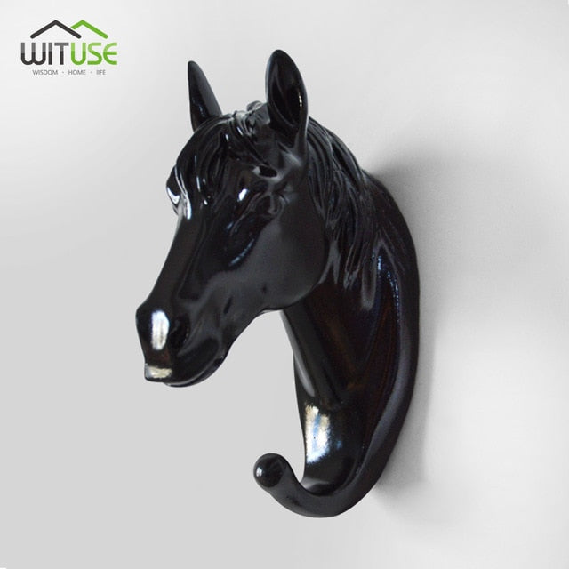 Creative 3D Wall Hangers Decoration Animals Hooks-Online Best Deals-Black Horse Head-Online Best Deals
