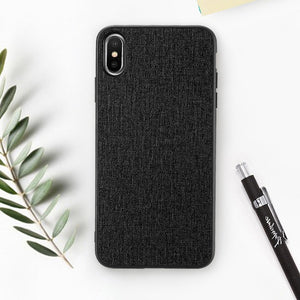 Cloth Texture Phone Case For iPhone-Online Best Deals-Black-For iPhone 6 6s-Online Best Deals