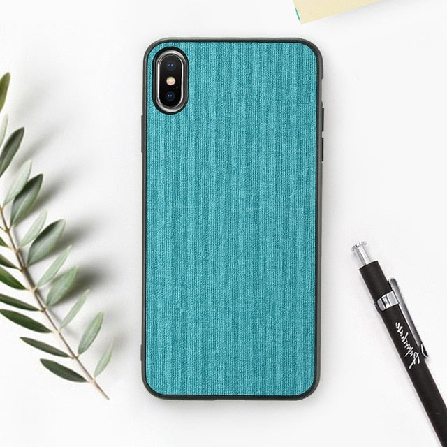 Cloth Texture Phone Case For iPhone-Online Best Deals-Navy Blue-For iPhone 6 6s-Online Best Deals