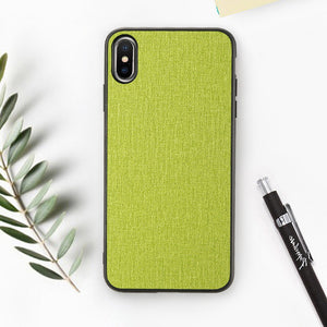 Cloth Texture Phone Case For iPhone-Online Best Deals-Green-For iPhone 6 6s-Online Best Deals