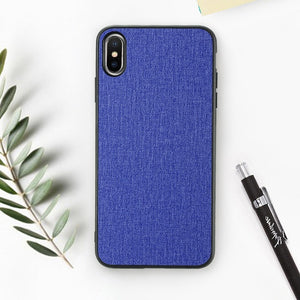 Cloth Texture Phone Case For iPhone-Online Best Deals-Dark Blue-For iPhone 6 6s-Online Best Deals