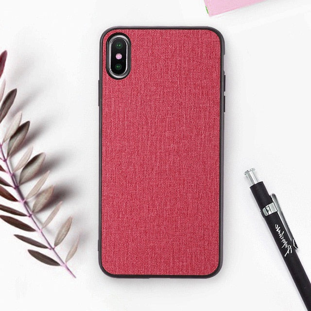Cloth Texture Phone Case For iPhone-Online Best Deals-Red-For iPhone 6 6s-Online Best Deals