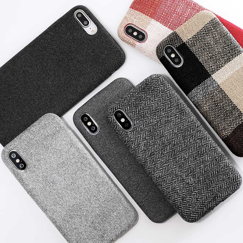 Cloth Texture Soft TPU Phone Case For iphone-Online Best Deals-Online Best Deals