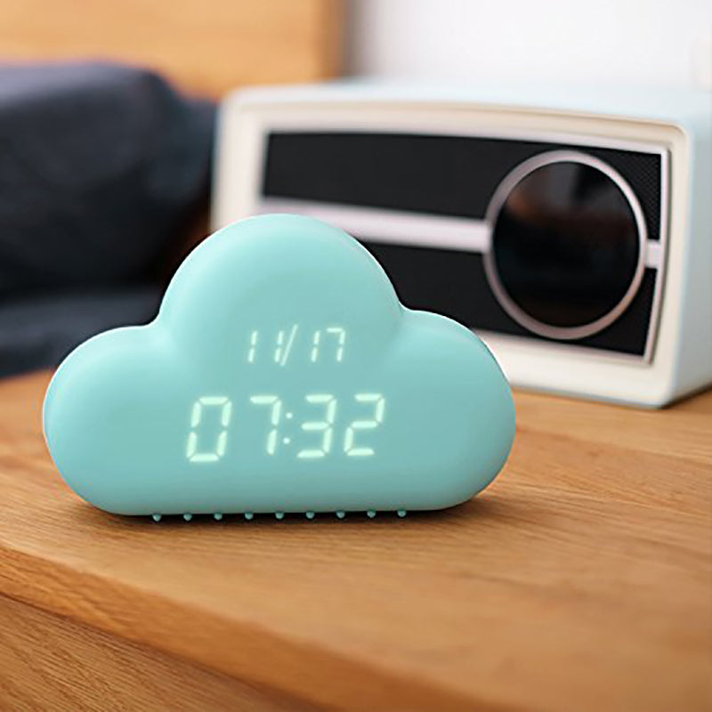 Digital Alarm Clock Led Sound Control Cloud-Online Best Deals-Online Best Deals