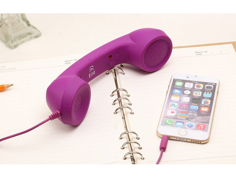Mobile Phone Handset Mic & Speaker-Online Best Deals-Purple-Online Best Deals