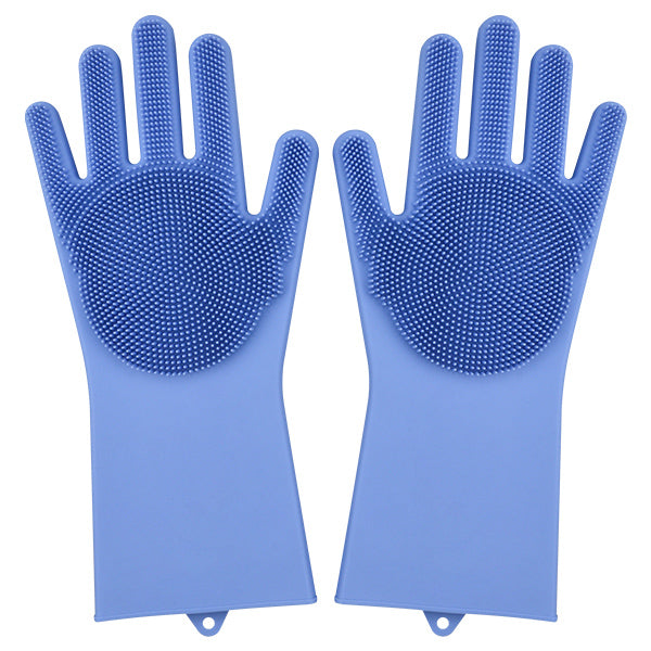 Magic Dishwashing Gloves-Home & Kitchen-Online Best Deals-Blue-A Pair-Online Best Deals