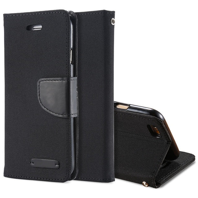 Luxury Leather Wallet Flip Case For iPhone-Online Best Deals-Black-For iPhone 6 6S-Online Best Deals