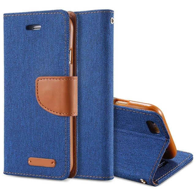 Luxury Leather Wallet Flip Case For iPhone-Online Best Deals-Deep Blue-For iPhone 6 6S-Online Best Deals