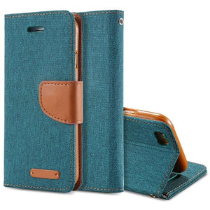 Luxury Leather Wallet Flip Case For iPhone-Online Best Deals-Sky Blue-For iPhone 6 6S-Online Best Deals