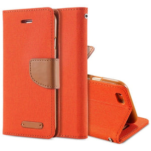 Luxury Leather Wallet Flip Case For iPhone-Online Best Deals-Orange-For iPhone 6 6S-Online Best Deals