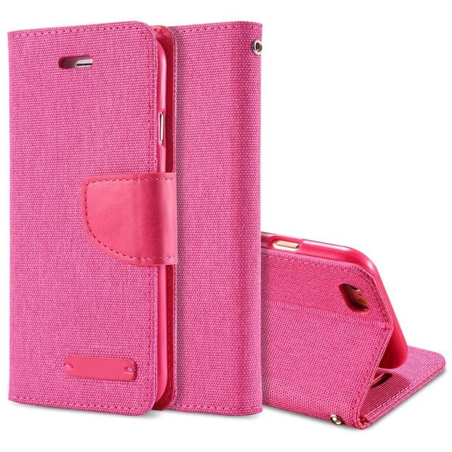 Luxury Leather Wallet Flip Case For iPhone-Online Best Deals-Rose-For iPhone 6 6S-Online Best Deals