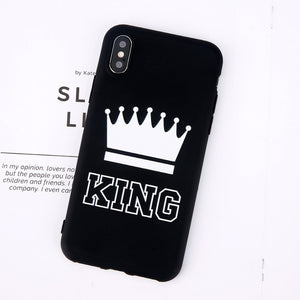 King Queen Crown Phone Case For iphone-Online Best Deals-Black King-For iPhone X-Online Best Deals