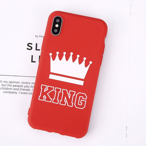 King Queen Crown Phone Case For iphone-Online Best Deals-Red King-For iPhone X-Online Best Deals