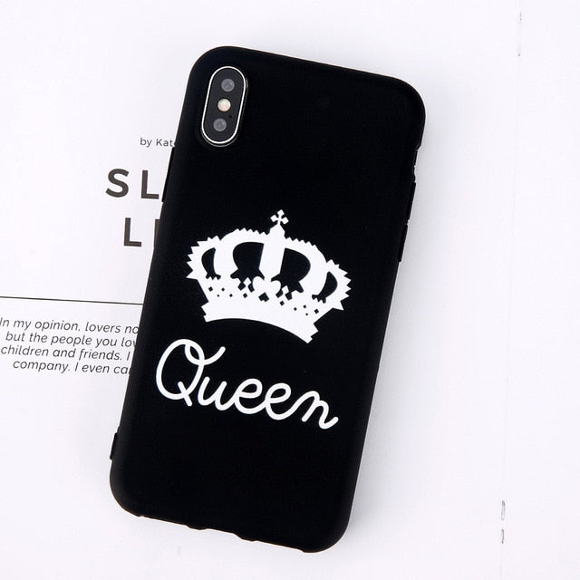 King Queen Crown Phone Case For iphone-Online Best Deals-Black Queen-For iPhone X-Online Best Deals