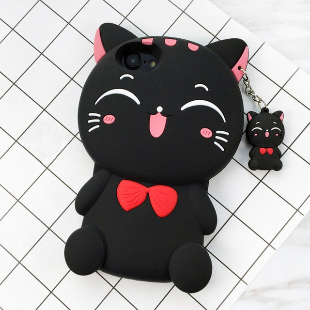 3D Cartoon Soft Silicone Phone Case For iPhone 5S 6 6S 7 8 Plus X-Online Best Deals-6-For iPhone X-Online Best Deals