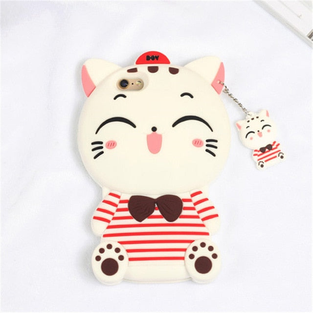 3D Cartoon Soft Silicone Phone Case For iPhone 5S 6 6S 7 8 Plus X-Online Best Deals-9-For iPhone X-Online Best Deals