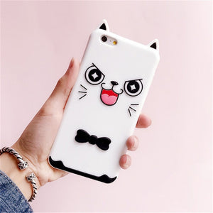 3D Cartoon Soft Silicone Phone Case For iPhone 5S 6 6S 7 8 Plus X-Online Best Deals-11-For iPhone X-Online Best Deals
