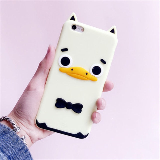 3D Cartoon Soft Silicone Phone Case For iPhone 5S 6 6S 7 8 Plus X-Online Best Deals-13-For iPhone X-Online Best Deals