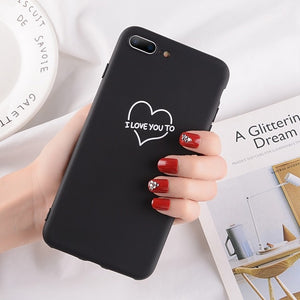 Heart Pattern Phone Cases For Iphone-Online Best Deals-2614 Black-For iPhone X-Online Best Deals