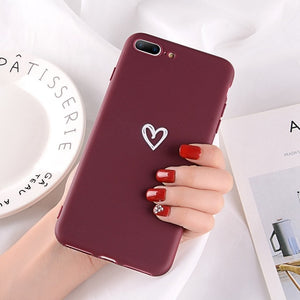 Heart Pattern Phone Cases For Iphone-Online Best Deals-2437 Red-For iPhone X-Online Best Deals