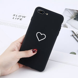 Heart Pattern Phone Cases For Iphone-Online Best Deals-7460 Black-For iPhone X-Online Best Deals
